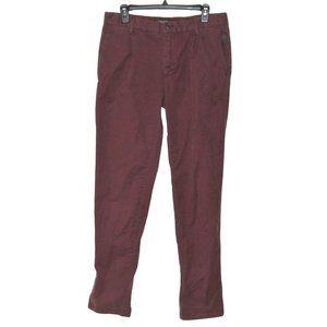 Ganesh Slim Fit Burgundy Men Pants 32
